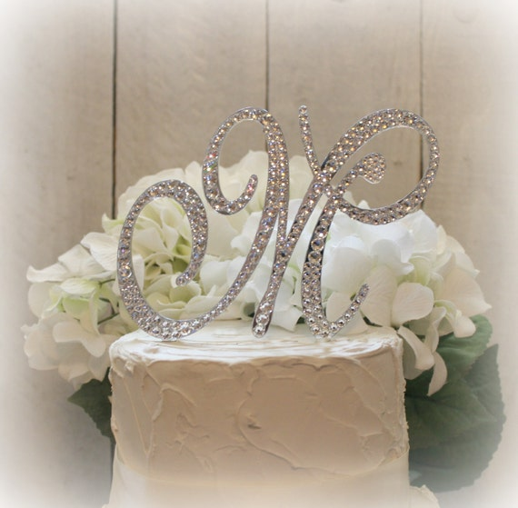 wedding cake topper letter r items similar to 5 quot wedding cake topper initial monogram 26350