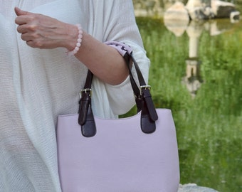 Dusty Pink LEATHER TOTE BAG, Leather Bag, Leather Shoulder Bag, Leather Handbag,Leather Tote,Leather Tote Bags for Women,Leather Totes Bags