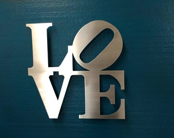 Love Metal Wall Art - Love Sign - Wall Art - Metal Art - Home Decor - Love Park - Famous Love Sign - Philadelphia - Modern - Contemporary