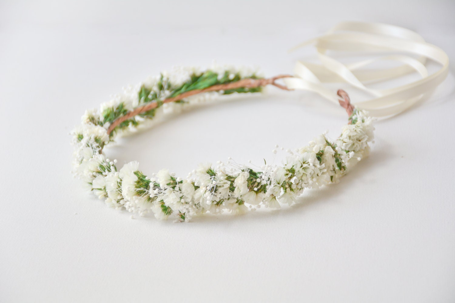 White Flower Crown Rustic Wedding Hair By Noononthemoon On