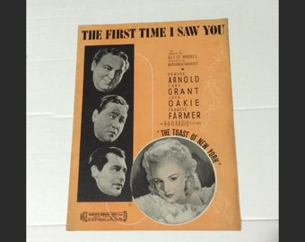 1937 FRANCES FARMER First Time I Saw You sheet music Cary Grant Toast Of New York Hollywood