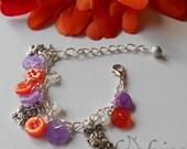 Rabbit Charm Bracelet ~Buttons~ Adjustable Bangle,  Cute Bunny Gift Idea for Kids, Bunny Lover, Summer Basket Idea, Bunny Lover Present