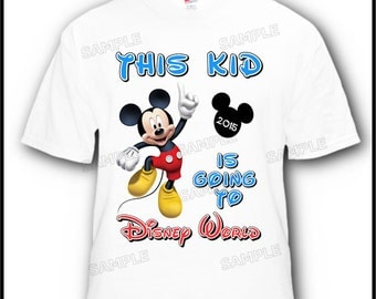 This Kid is Going to Disney with Mickey Mouse Vacation T-Shirt Design #3