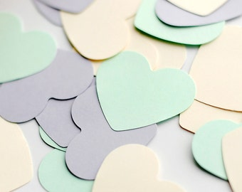 Set of 1000 pcs cardstock hearts for garland making - wall decor, wedding decor paper hearts - wholesale paper heart lot - pastel mix -