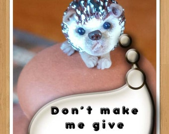 One Miniature Hedgehog Sculpture, Dollhouse, Shadow Box, Diorama, Fairy Garden Accessory