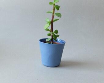 Succulent Planter, Ceramic Pot, Indoor Planters, Herb Planter, Party Favor, Blue Planter, Flower Pot, Modern Planter, SCULPTUREinDESIGN