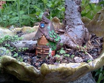 Fairy Garden House Spirit House Polymer Clay Figurine in Custom Color for Miniature Gardens Terrariums House Plants Faerie Accessories