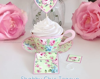 15%OFF20 COUPON CODE, Minty Green Cupcake Wrappers, Cupcake Holders, Cupcake Wraps, Tea Cups TC-001