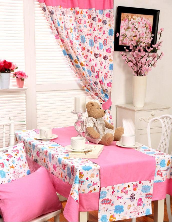 Baby Girl Nursery Window Curtains Pink Kids By Hereistheshop
