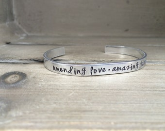 Unending Love Amazing Grace / Bible Verse Bracelet / Amazing Grace Jewelry / Christian Gift / Christian Bracelet / Gift for Wife /