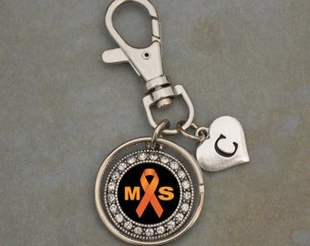 Custom Initial Multiple Sclerosis Awareness Keychain