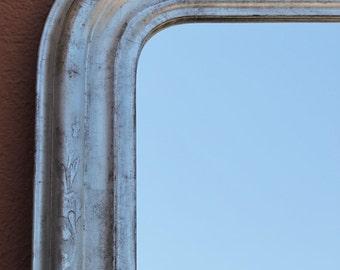 Silver mirror: French antique mirror