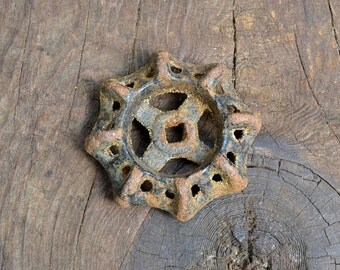 Old dresser knobs, old rusty iron, old knobs, weird knobs, rusty iron knobs, valve handle, cast iron knob, handle, shabby chic knobs, knobs