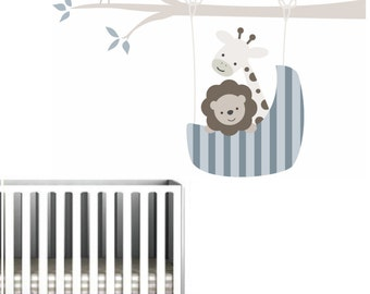 Wall Decals Nursery, Nursery Wall Decal, Wall Decal Nursery, Safari Wall Decal, Baby Wall Decal, Kids Wall Decal, REMOVABLE and REUSABLE