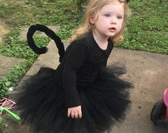 Black Cat Costume - Halloween Girls Costume - Black Cat Costume for Girls - Black Cat Halloween Costume - Includes Tutu, Ears, and Tail.
