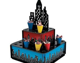 1/ Superhero / Snack holder/ Centerpiece/Cupcake Holder