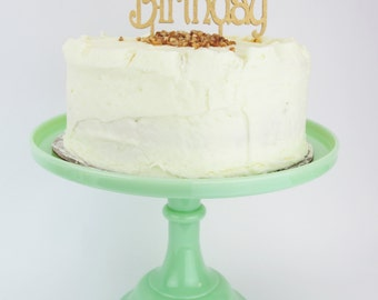 Happy Birthday - Gold Glitter Cake Topper