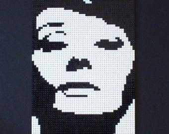 Audrey Lego mosaic