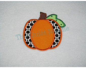 Embroidered Halloween Pumpkin Applique Patch Iron On or Sew On* Fall Autumn Applique Patch * Thanksgiving Applique Patch * Customizable