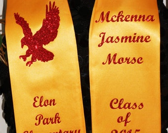 STOLE, Graduation Stole, Senior Stole, Graduate, Senior sash, BLING available - PERSONALIZED, by SashANation