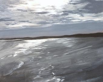 "Painting of seascape/landscape ""Northumberland Coastline"""