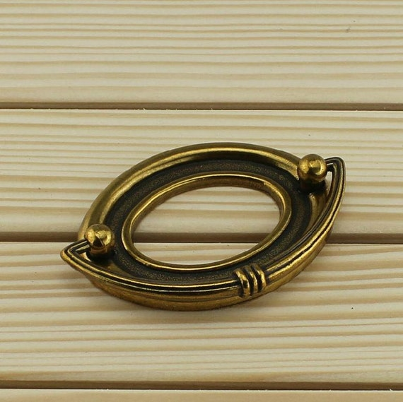 Drawer Pulls Handles Oval Rings Pulls Dresser Handles Pulls Knobs Antique  Retro Furniture Hardware Handle Knob Cabinet Handles Knobs 45 64mm From ...