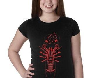 Girls Steampunk Lobster Shirt 3710