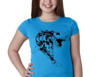 Girls Steampunk Shark Shirt