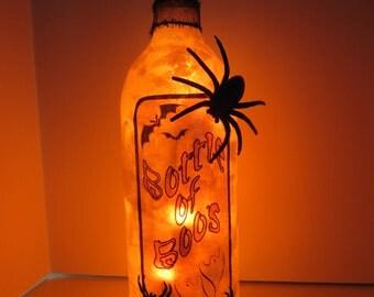Bottle of Boos Halloween Bottle Light