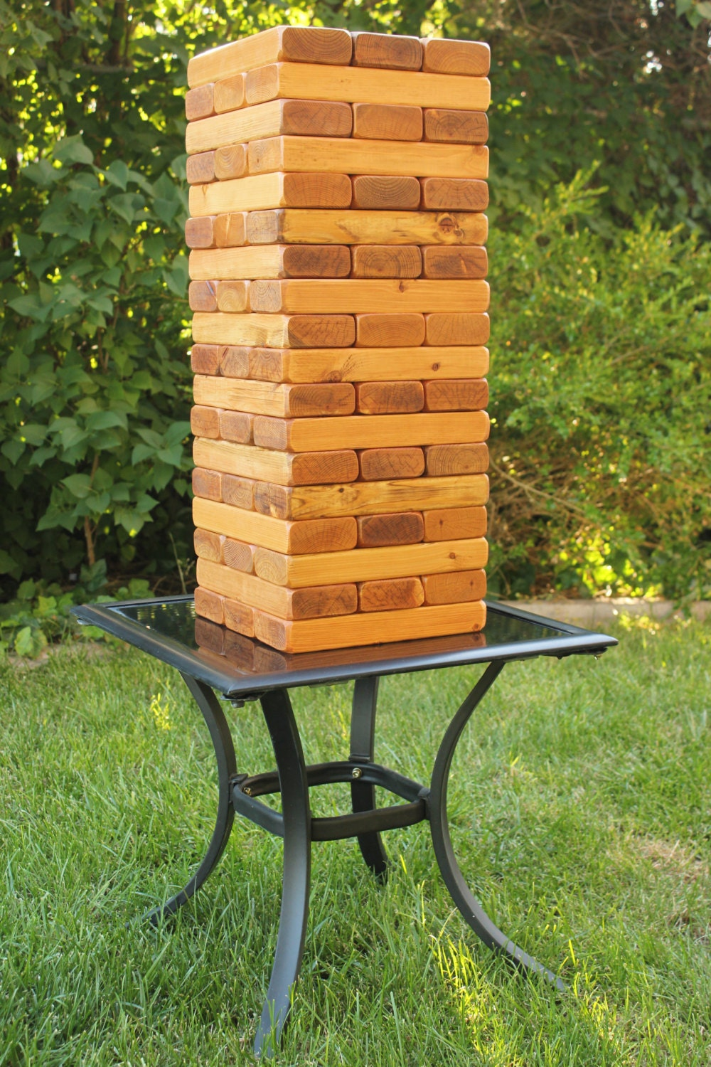 Giant Jenga Set. 54 Pieces Stained and Waxed by ...