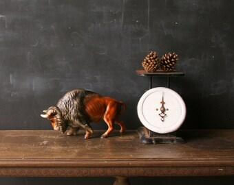Vintage Ceramic Buffalo Western Art Vintage  From Nowvintage on Etsy