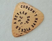 PERSONALIZED Copper Guitar Pick - Custom Pick - Father - Boyfriend - Husband - Brother - Son - Daddy - Custom Plectrum - Functional Gift