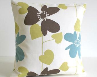 Decorative Pillow Cover, Throw Pillow, Cushion Cover, Pillowcase, Pillow Sham, Scandinavian Pillow - Nordic Bloom Pistachio
