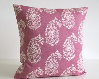 Shabby Chic Pillow Cover, 20 Inch Cushion Cover, Shabby Chic Pillow Sham, 20x20 Pillowcase, Throw Pillow, Scatter Cushion - Paisley Heather