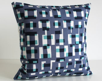Couch Pillow Cover, Pillow Case, Cushion Cover, 18 Inch Pillow Cover, 18x18 Pillow Cover, Throw Pillow Cover - Graphic Blocks Purple Dusk
