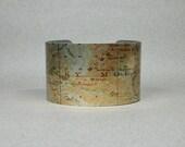 Cuff Bracelet Rocky Mountain Colorado Vintage Map Unique Gift for Men or Women