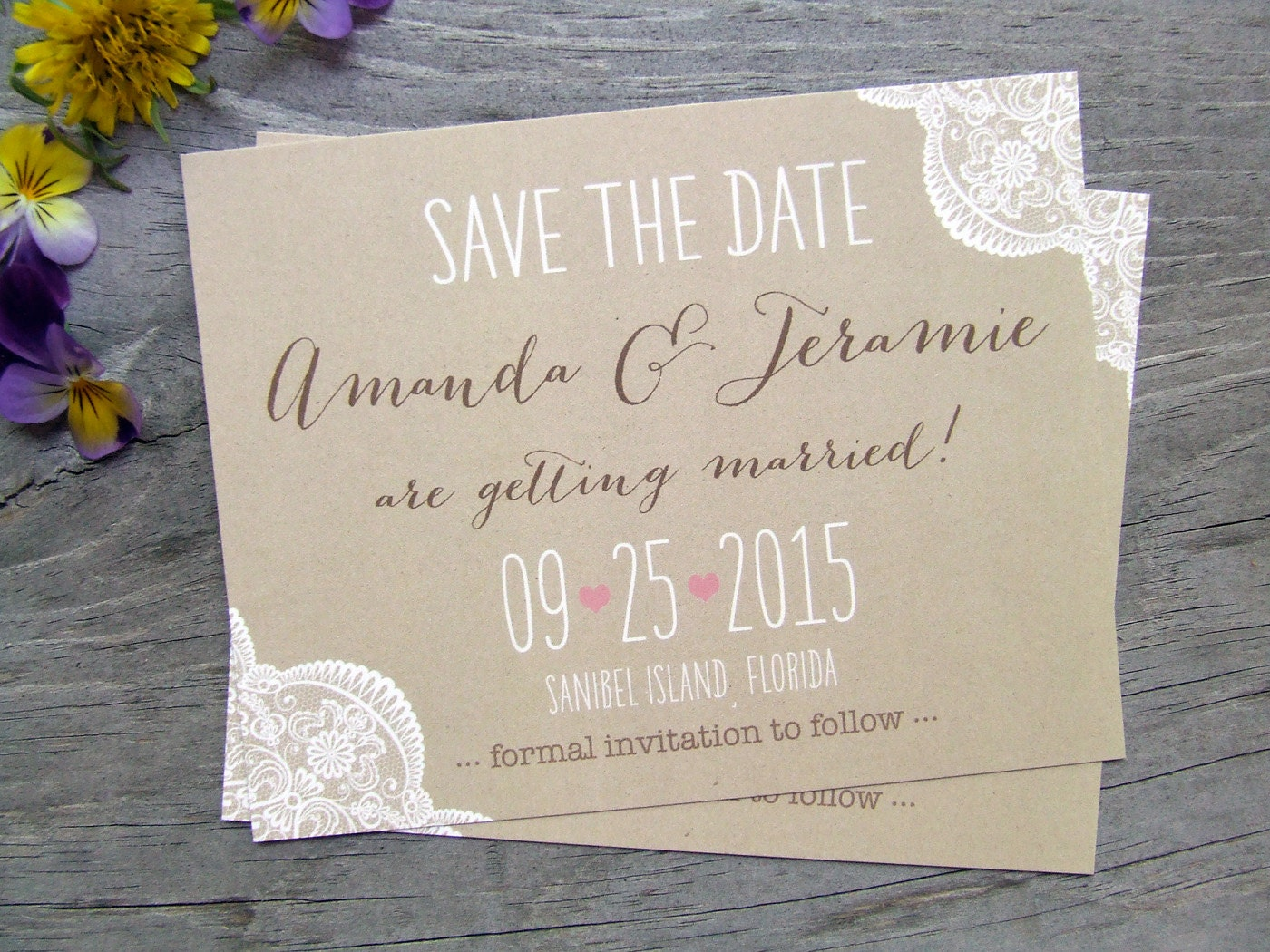 Wedding Save The Date Postcards: Wedding Save The Dates Magnets Cards Postcards Rustic