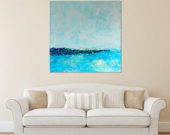 Landscape painting - Abstract Landscape, Abstract Art, Abstract Painting, Blue landscape, Impressionist Painting,