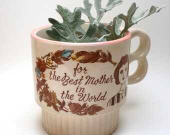 Mothers Day Vintage Best Mother in the World Coffee Mug