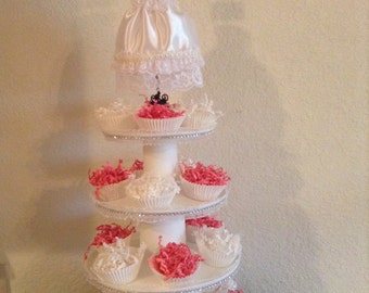 4 Tier Cupcake Stand, Cupcake Tower, Original design by SimplyTraditions