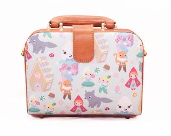 Red Riding Hood Bag, Red Riding Hood, Brown Briefcase Leather Bag,  Hardcase Box, Leather Briefcase, Crossbody Bag, Brown Purse