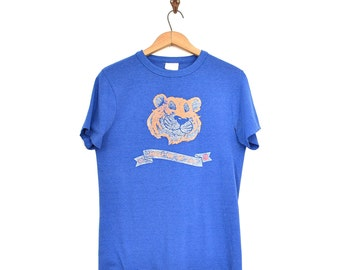 Esso Tiger T Shirt - Paper Thin Advertising Tee - Vintage 70s Gas Station Shirt