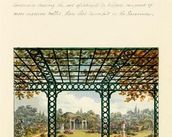 """Humphry Repton : """"Flower Garden"""" (1813) - Giclee Fine Art Print"""