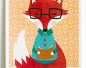 Animal Reading Art / Fox ...