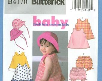 2004 L,XL Infants' Sundress, Ruffle Panties and Hat Size L,XL - Butterick Sewing Pattern 4170