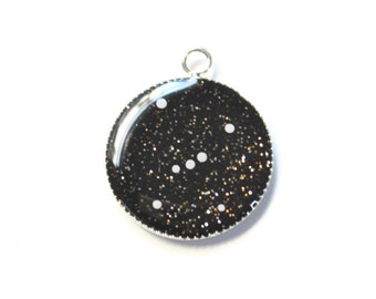 Resin Starry Orion Constellation Pendant or Necklace