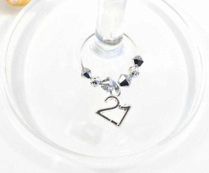 St Crystal Wine Glass Charm