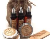 Beard Care Kit - Men's Beard Care Kit - Gift for Him - Handmade Beard Oil - Beard Balm - Choose your Scent