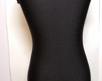 Black Unitard with Black Lace Trim