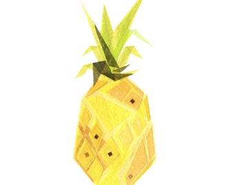 Pineapple - Fruit Art Print
